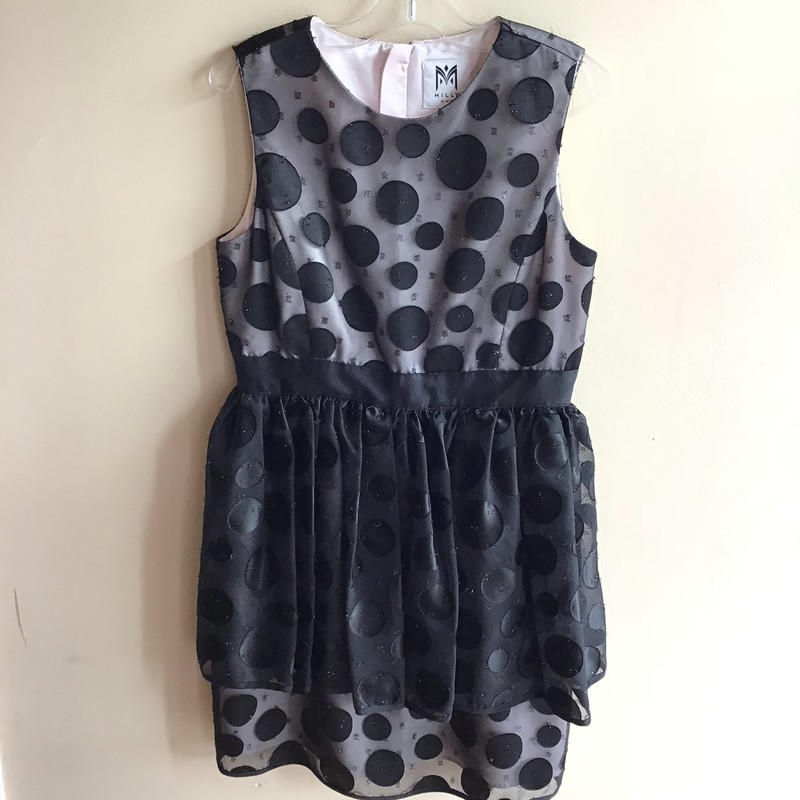 Milly Minis Dress, Black, Size: 12-14<br /> <br /> TAGGED 14 BUT FITS MORE LIKE A 12<br /> <br /> ALL ONLINE SALES ARE FINAL.. NO RETURNS OR EXCHANGES.