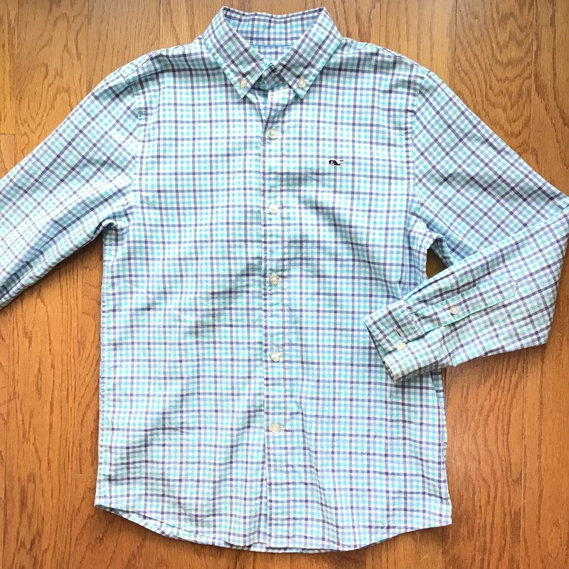 Vineyard Vines Shirt, Blue, Size: 8-10<br /> <br /> <br /> ALL ONLINE SALES ARE FINAL. NO RETURNS OR EXCHANGES.