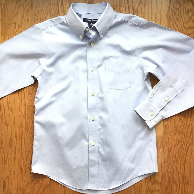 Brooks Brothers Shirt, Blue, Size: 10<br /> <br /> <br /> ALL ONLINE SALES ARE FINAL. NO RETURNS OR EXCHANGES.