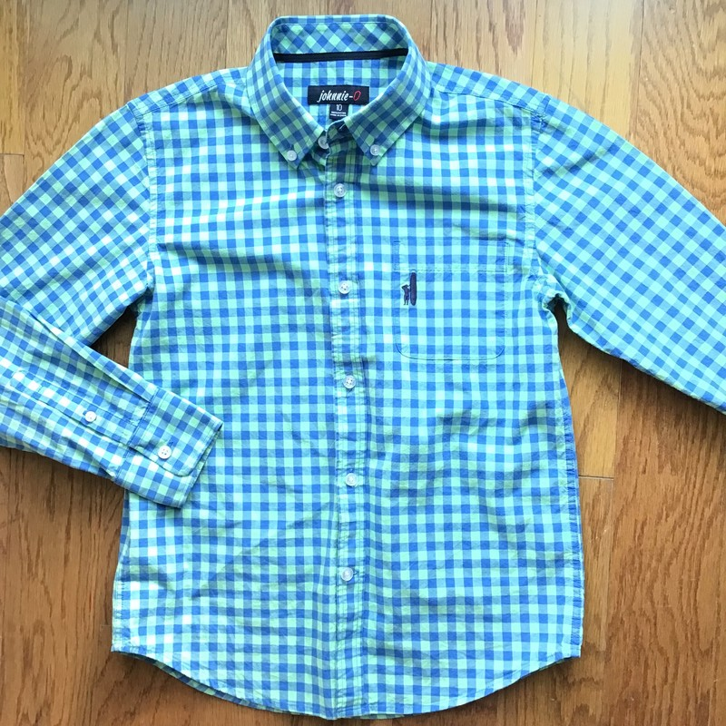 Johnnie O Shirt, Green, Size: 10<br /> <br /> <br /> ALL ONLINE SALES ARE FINAL. NO RETURNS OR EXCHANGES.