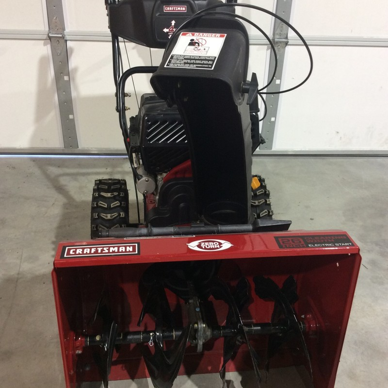 CRAFTSMAN Quiet-Technology 26-in 208-cc Two-Stage Self-Propelled Gas Snow Blower with Power Steering & Push-Button Electric Start.<br /> <br /> *NEVER USED*