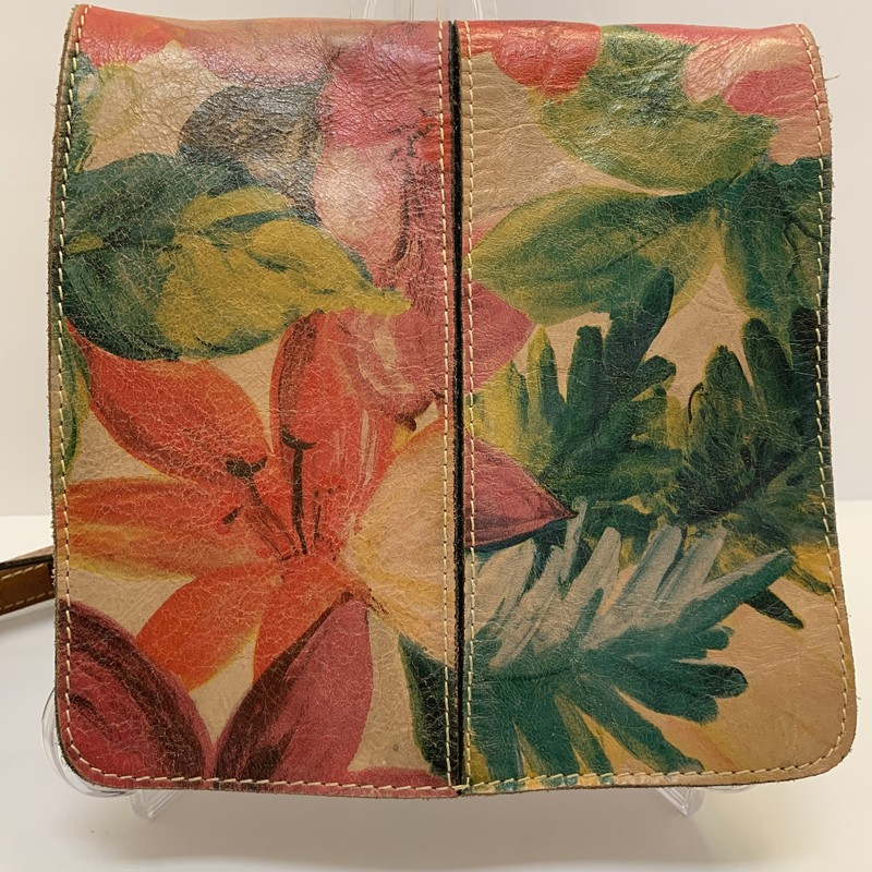 Patricia Nash Crossbody<br /> Floral Italian Leather