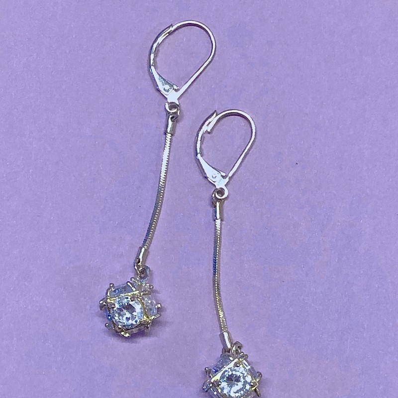 Wrapped Rhinestone Ball Earrings