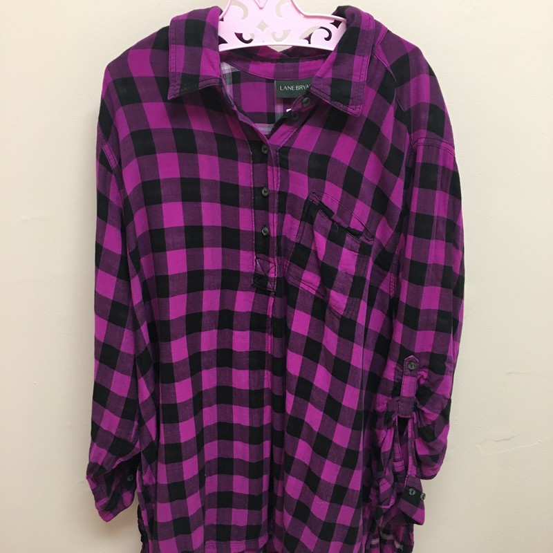 Lane Bryant Flannel, Purple/b, Size: 18/20
