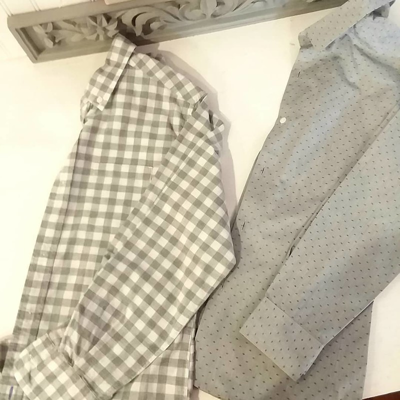 Crewcuts Oxford,<br /> Grey checkered<br /> Listing is for grey checkered shirt on left only<br /> Size: 12