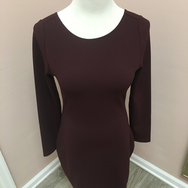 Express Dress, Wine, Size: Small