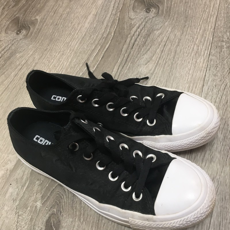 Converse Sneakers, Black, Size: 7
