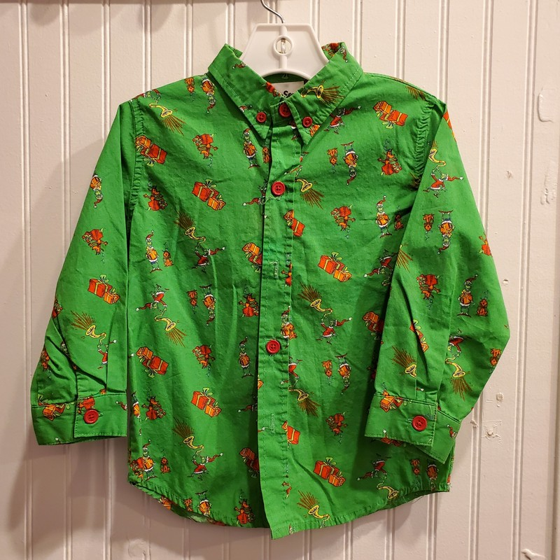 Grinch Button Up, None, Size: 3
