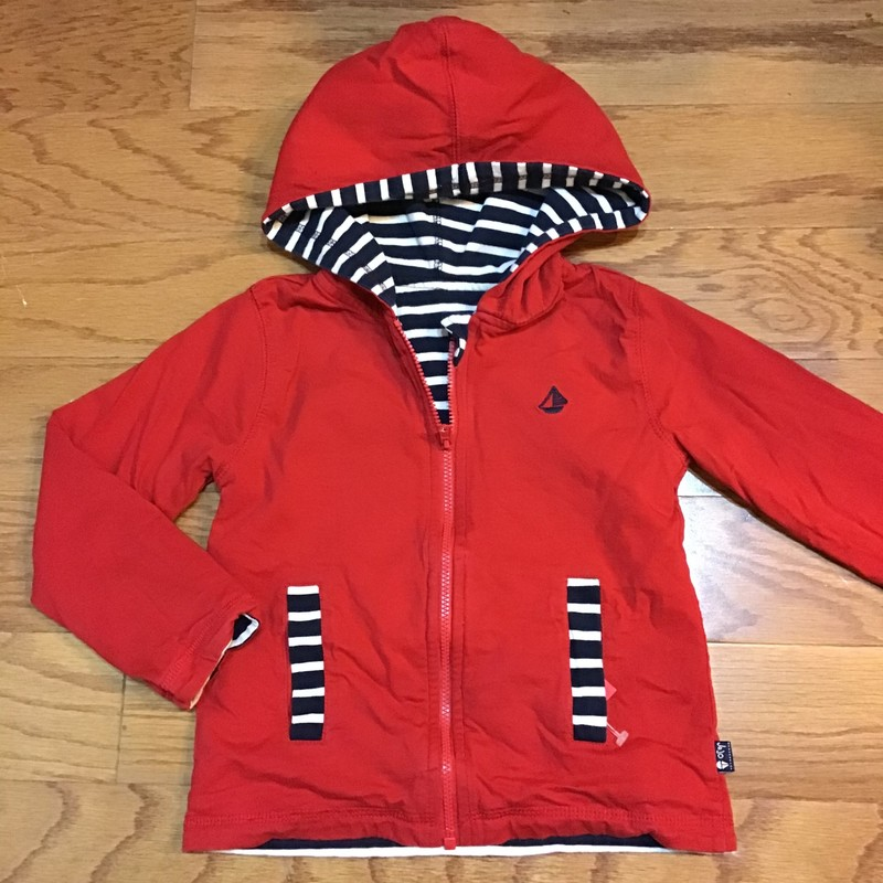 Jojo Maman Bebe Zip Up, Red, Size: 2-3<br /> <br /> <br /> ALL ONLINE SALES ARE FINAL. NO RETURNS OR EXCHANGES.
