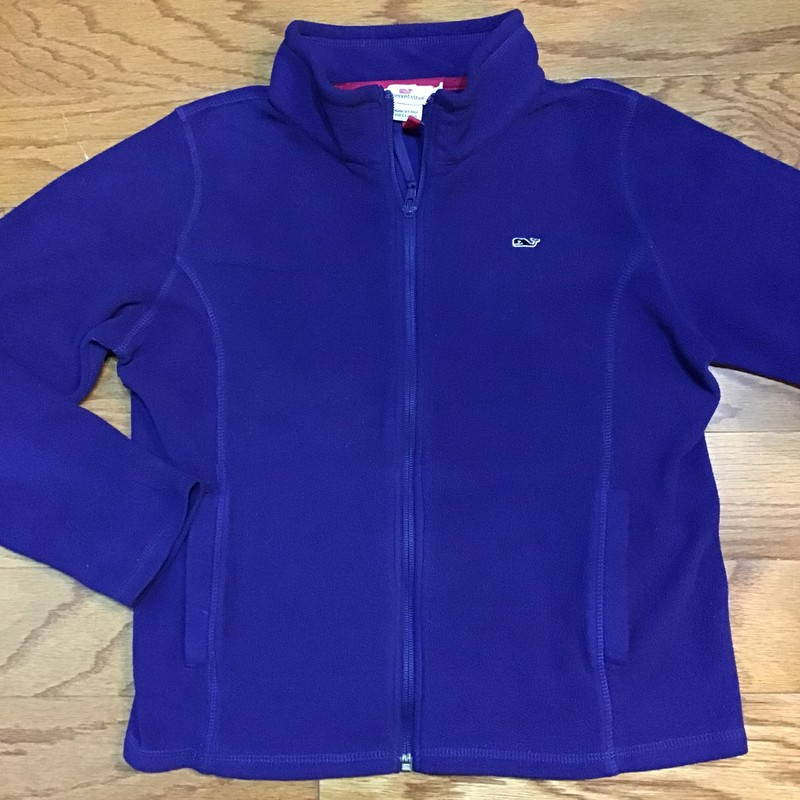 Vineyard Vines Zip Up, Blue, Size: 12-14<br /> <br /> <br /> FLEECE IS LIGHTWEIGHT AND THIN<br /> <br /> <br /> ALL ONLINE SALES ARE FINAL. NO RETURNS OR EXCHANGES.