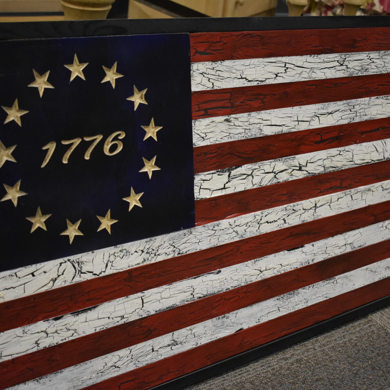 Custom 21x38 American Flag Decor