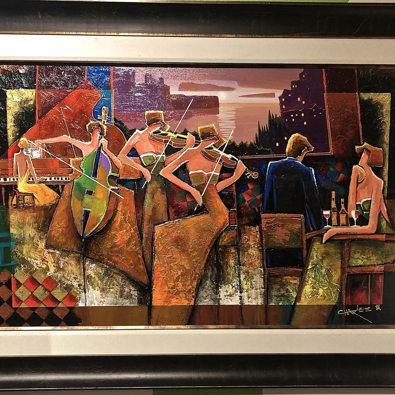 Painting Charles Lee, SIGNED, Size: 60x42