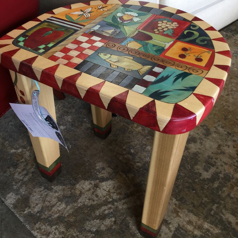 SticksArtistMadeSidetable, Colorful, Size: 17.15.18