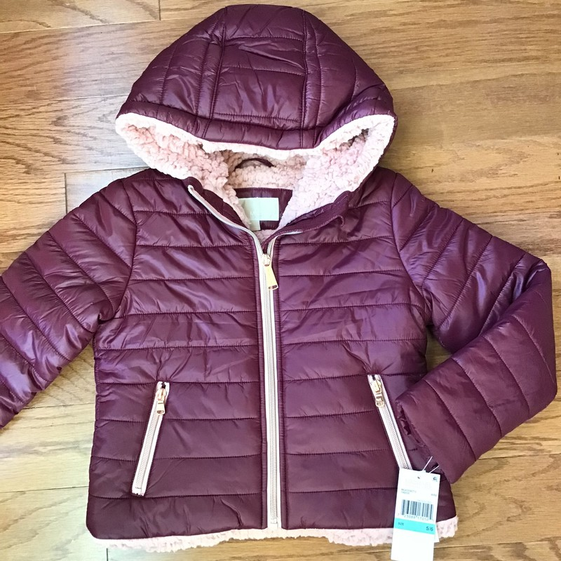 Michael Kors Coat NEW, Burgundy, Size: 5-6<br /> <br /> <br /> BRAND NEW WITH TAG<br /> <br /> <br /> ALL ONLINE SALES ARE FINAL. NO RETURNS OR EXCHANGES.