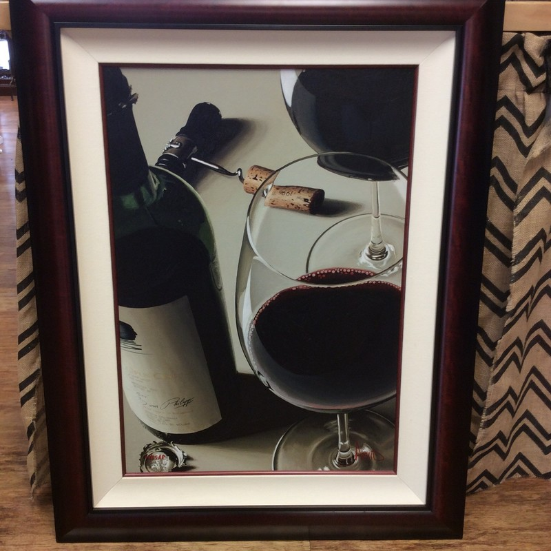 This is an extremely rare THOMAS ARVID signed and numbered ARTIST PROOF of his giclee Opus One painting. There were only 85 of them produced! If you know a wine snob, this would be the *PERFECT* gift! Only $698.50, and we are confident that you won't find it any cheaper elsewhere.