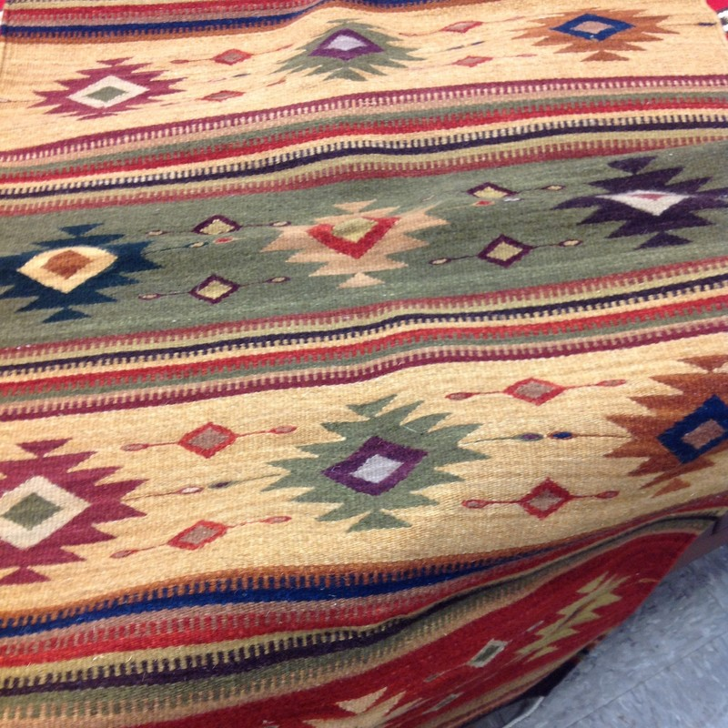 Mexican Wool Serape, Autumn, Size: 30x60
