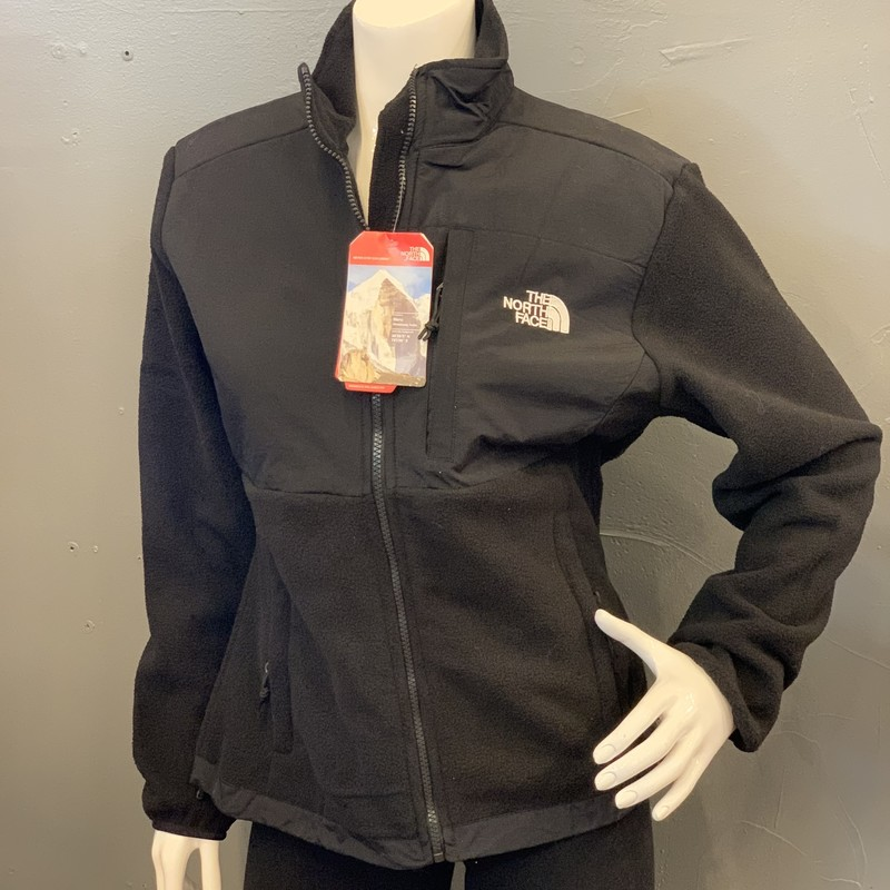 Northface Denali, Black, Size: M<br /> <br /> shell A: 100% Polyester<br /> shell B: 100% Nylon<br /> <br /> New With Tags<br /> Original Retail: $179