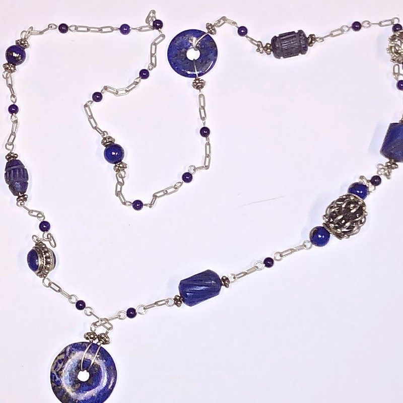 Lapiz Beads Necklace