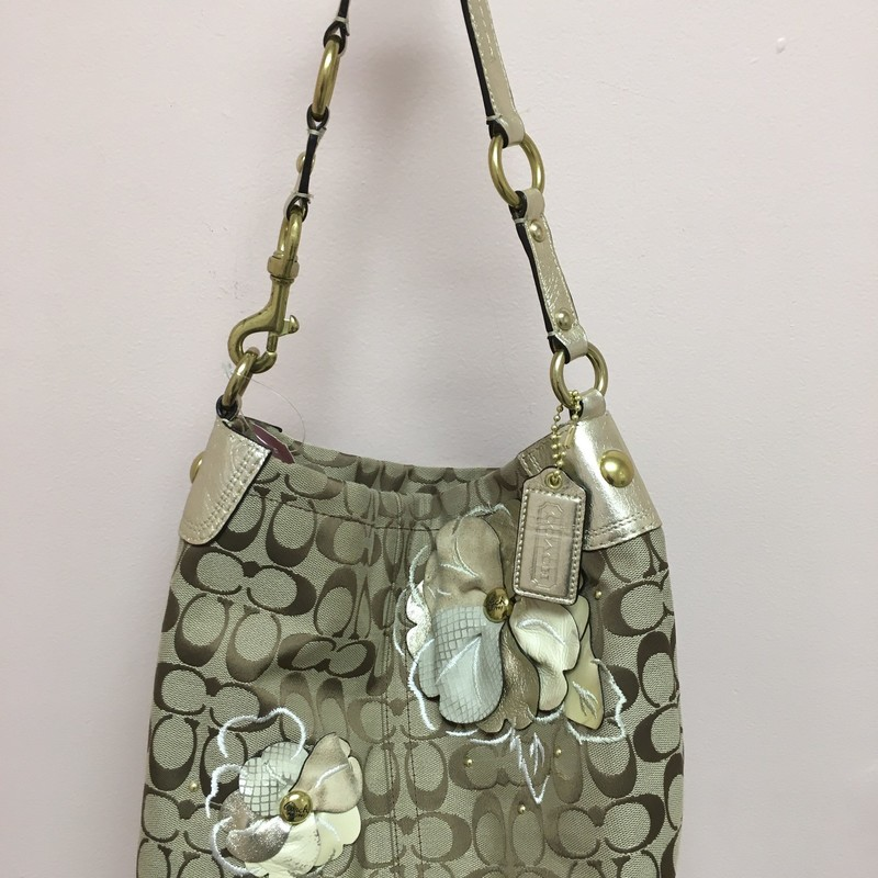Coach Flower Bag, Brown, Size: OS