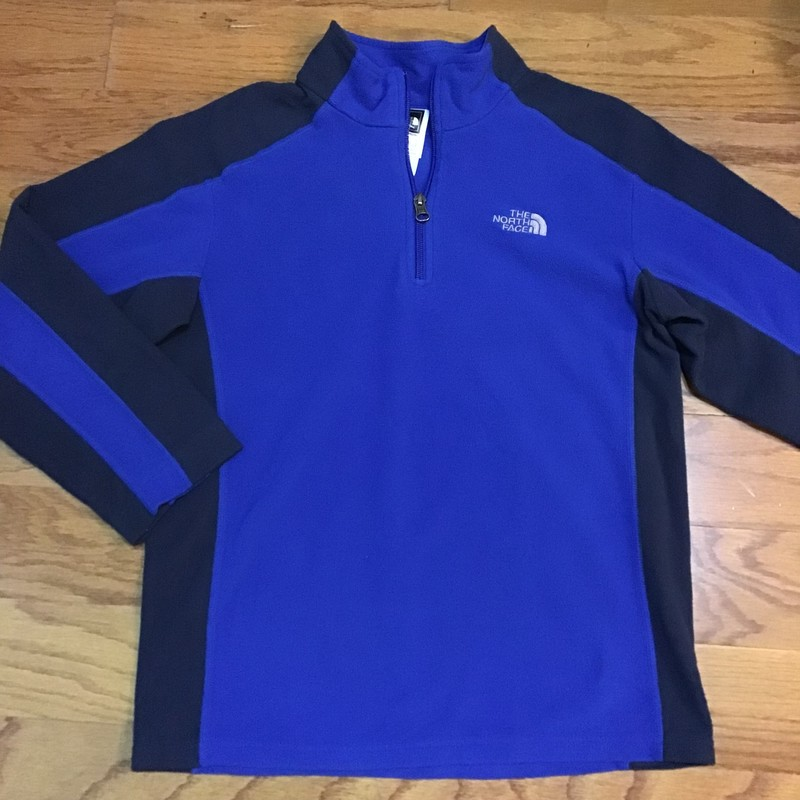 North Face Half Zip, Blue, Size: 14-16<br /> <br /> <br /> ALL ONLINE SALES ARE FINAL. NO RETURNS OR EXCHANGES.