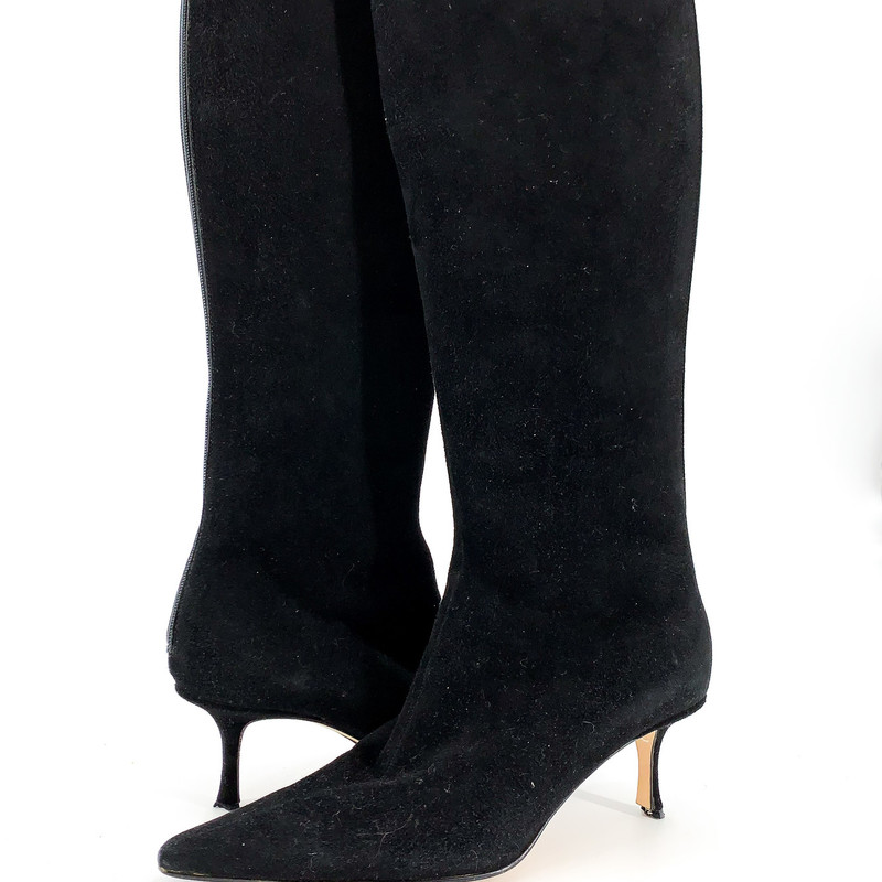 Jimmy Choo black suede tall boots