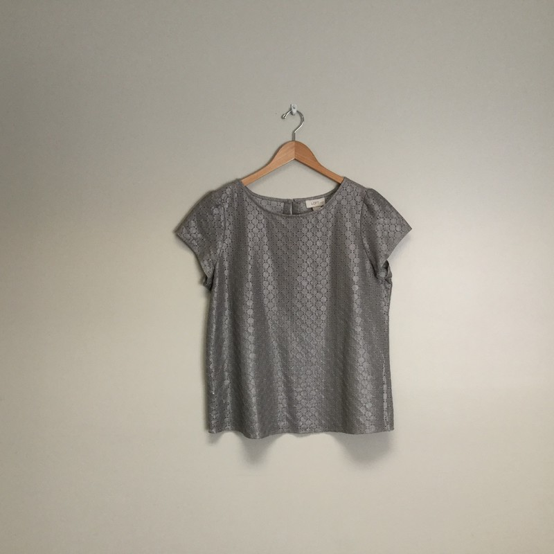 Loft Eyelet Metallic Top.