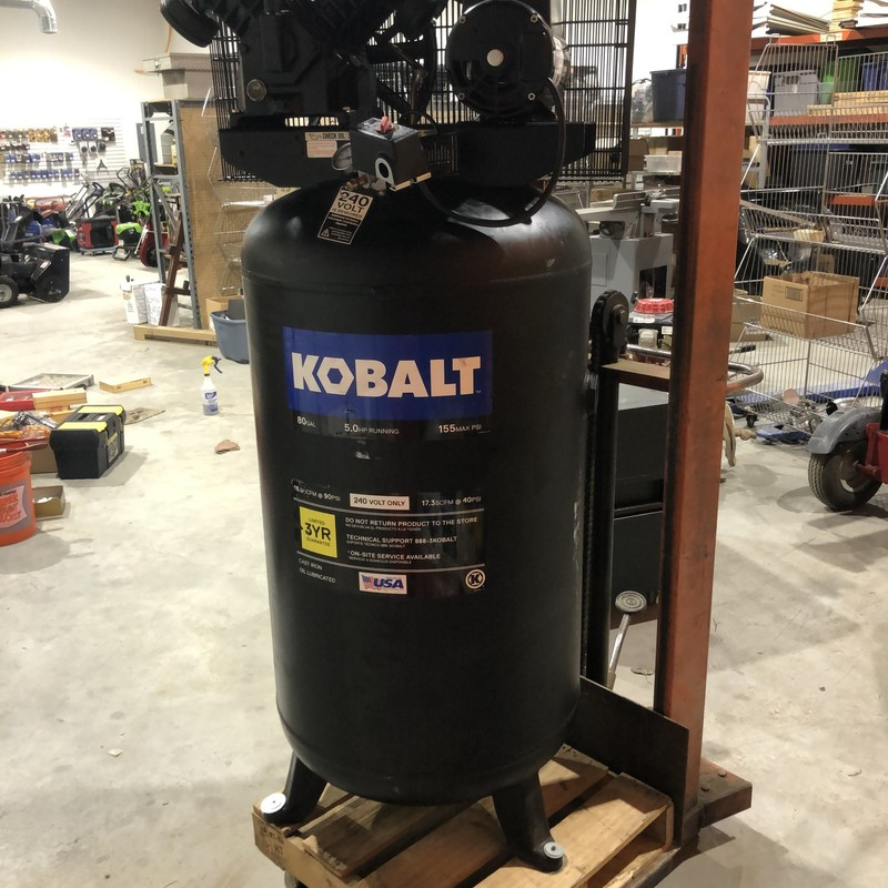 KOBALT 80 Gallon 5-HP 155-MAX  PSI 240-Volt ONLY Vertical Air Compressor<br /> <br /> *NEVER USED*