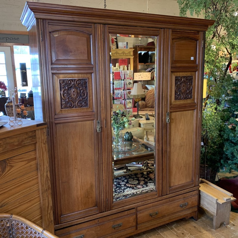 Vintage Armoire with mirror