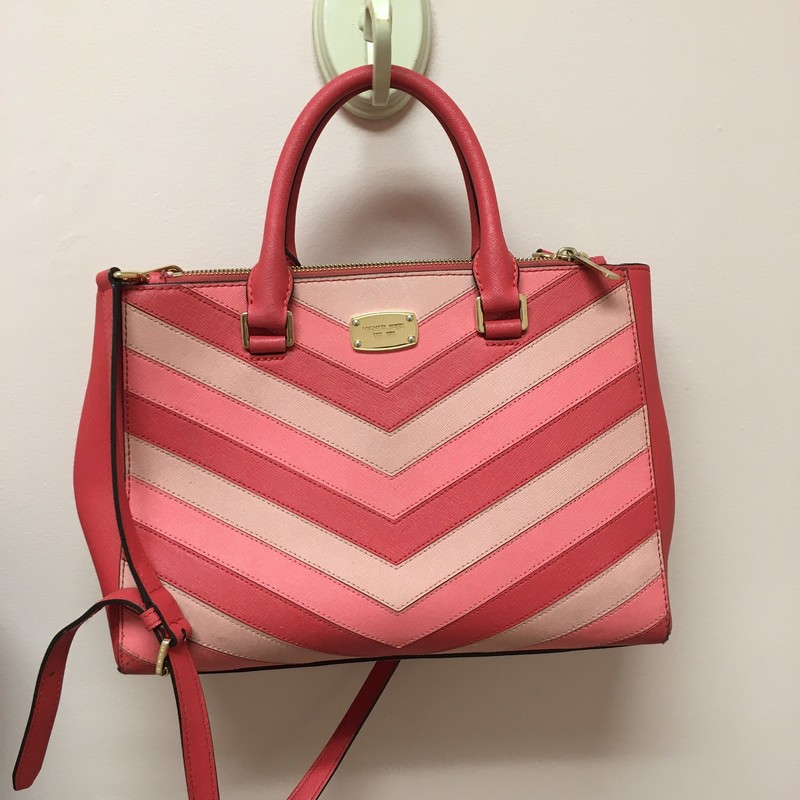 Michael Kors Chevron Bag, Pink, Size: OS