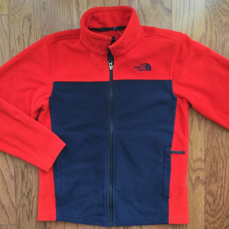 North Face Zip Up, Red, Size: 10-12<br /> <br /> <br /> ALL ONLINE SALES ARE FINAL. NO RETURNS OR EXCHANGES.
