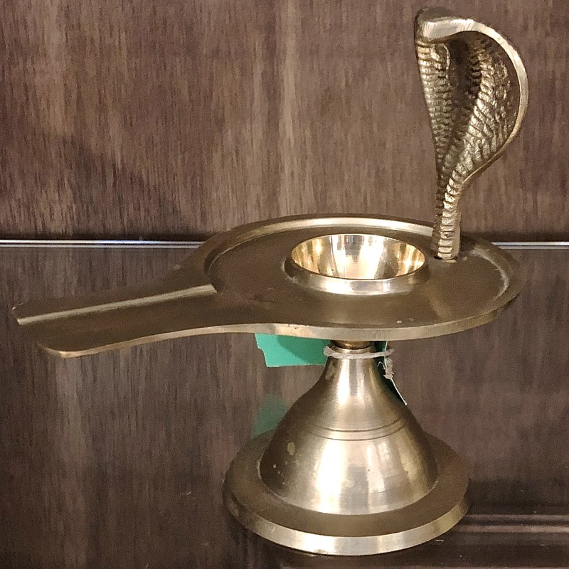 "Incense Burner Cobra, Brass, Size: 6""H"