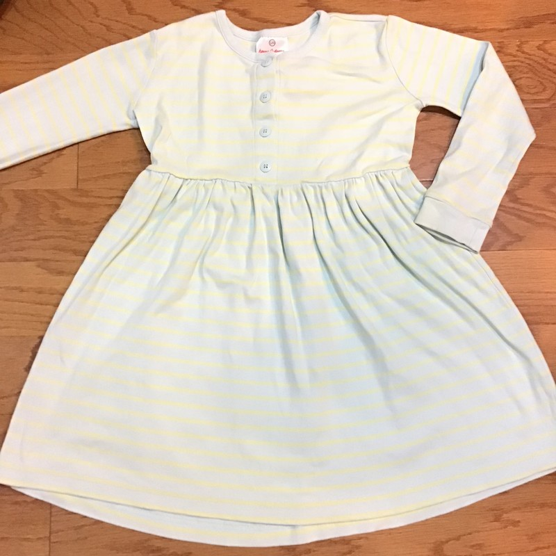 Hanna Andersson Dress, Aqua, Size: 6-7<br /> <br /> <br /> ALL ONLINE SALES ARE FINAL. NO RETURNS OR EXCHANGES.