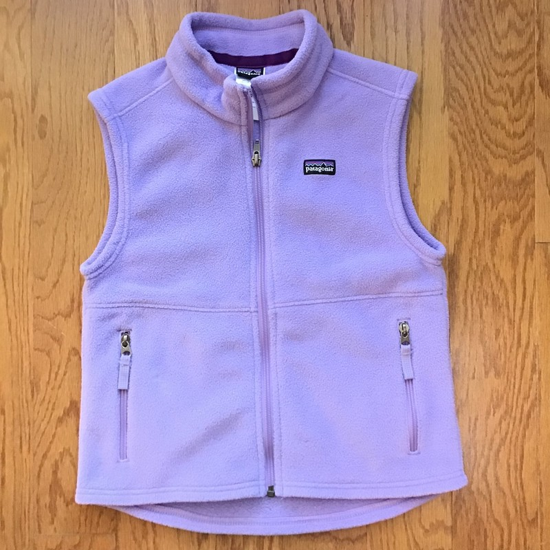 Patagonia Vest, Lilac, Size: 8<br /> <br /> <br /> ALL ONLINE SALES ARE FINAL. NO RETURNS OR EXCHANGES.