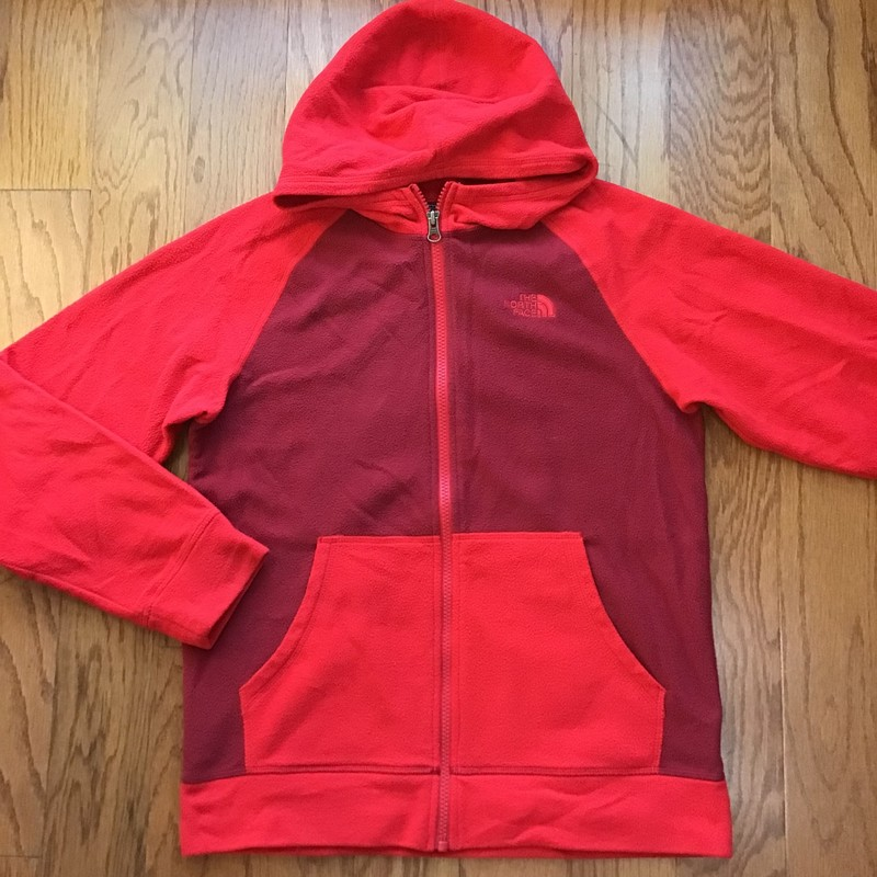 North Face Zip Up, Red, Size: 14-16<br /> <br /> <br /> THIN LIGHTWEIGHT FLEECE<br /> <br /> <br /> ALL ONLINE SALES ARE FINAL. NO RETURNS OR EXCHANGES.