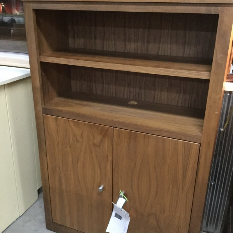 "Room & Board Bookcase / Cabinet, Walnut, Size: 32""X12""X48"""