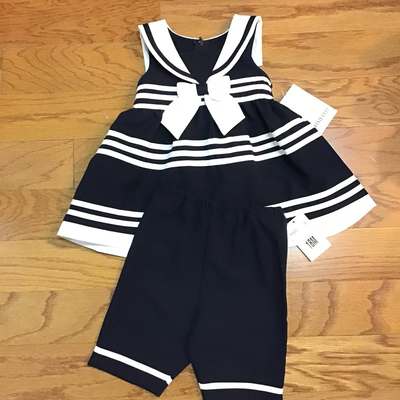 Bonnie Baby 2pc Dress NEW, Navy, Size: 18m<br /> <br /> <br /> ALL ONLINE SALES ARE FINAL. NO RETURNS OR EXCHANGES.