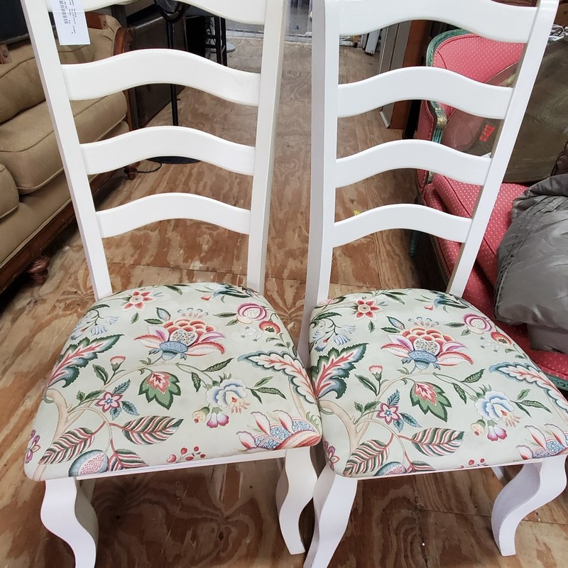 Pair Of Chairs, White, Size: Pair