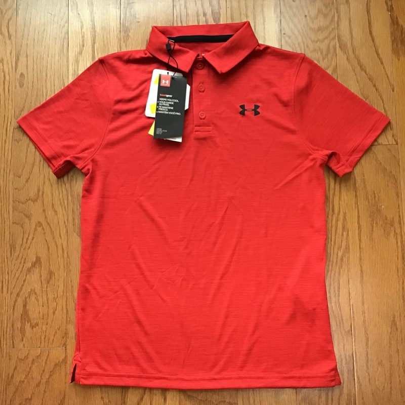 Under Armour Shirt NEW, Red, Size: Medium<br /> <br /> <br /> BRAND NEW WITH $30 TAG<br /> <br /> <br /> ALL ONLINE SALES ARE FINAL. NO RETURNS OR EXCHANGES.