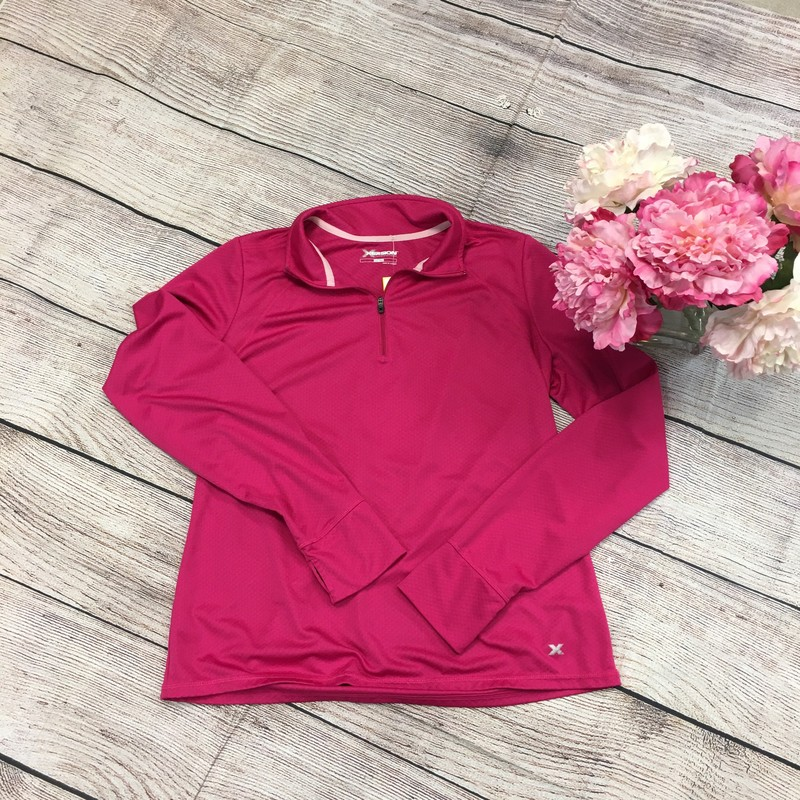 Xersion Pull Over Fuchsia Pink Great to wear when your on a run.