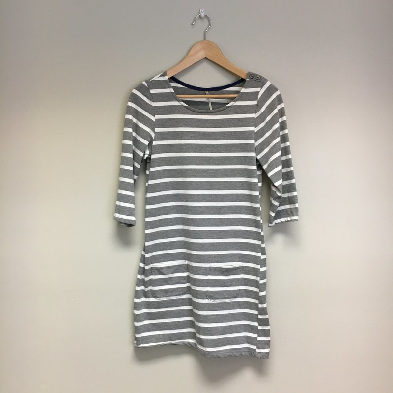 Nine 1 Eight Stripe Dress<br /> Gray/White<br /> Size M<br /> $23.00