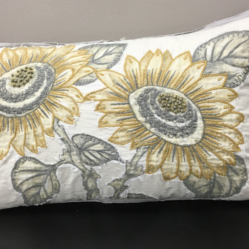 Pottery Barn Sunflower, Off Whte, Size: 25x15