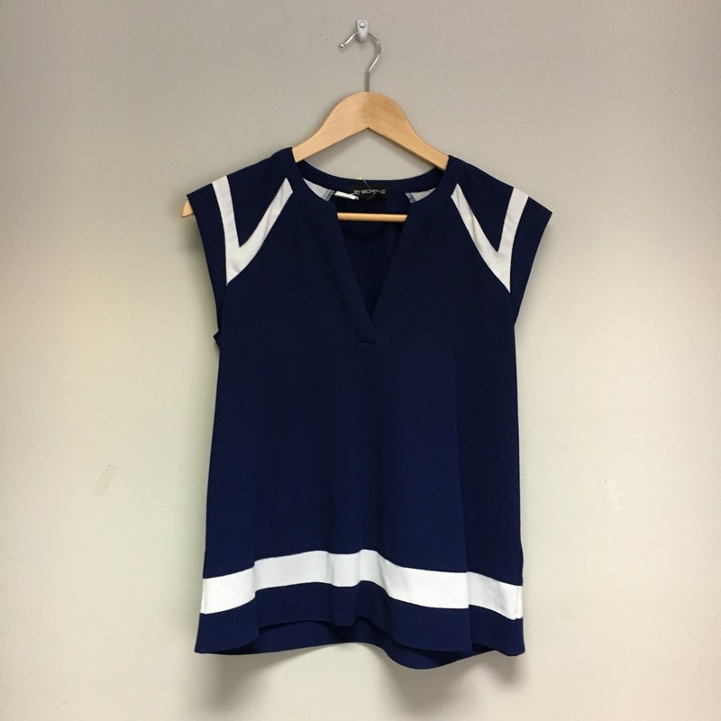My Michelle Top<br /> Navy/Cream<br /> Size S<br /> $9.50