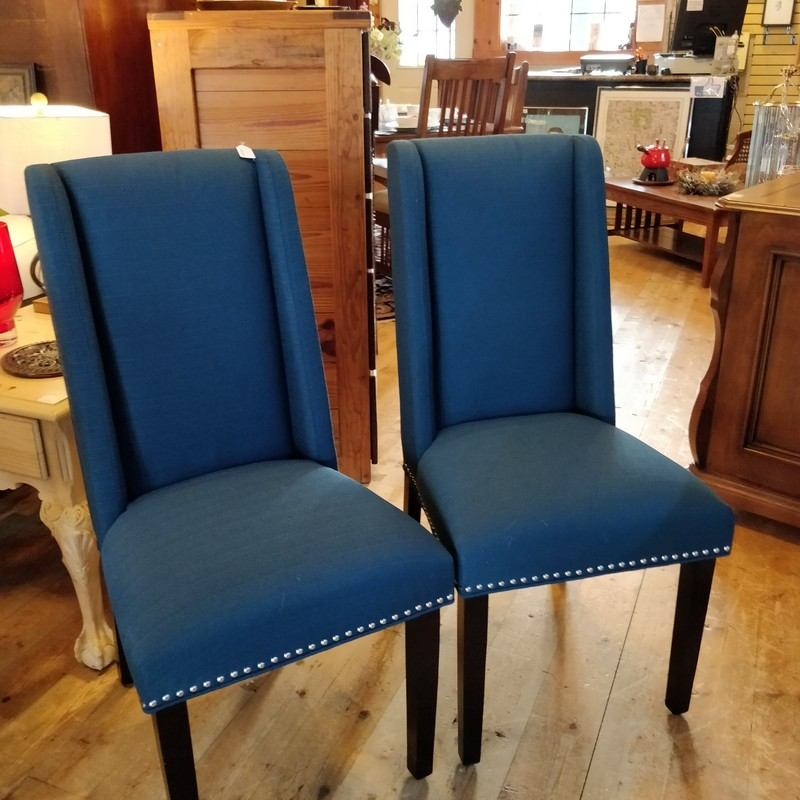 Pair Chairs, Blue, Size: None