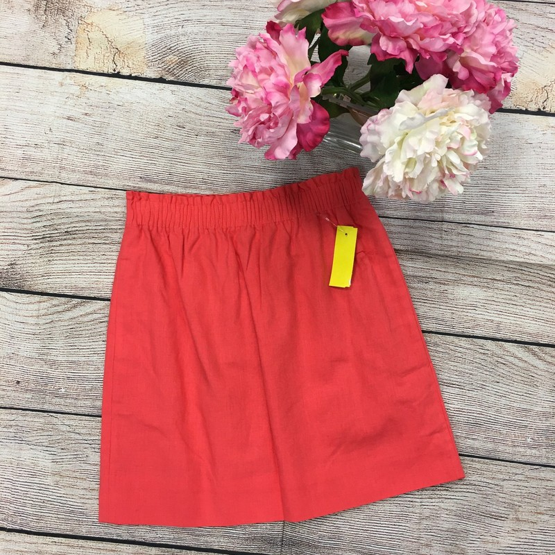 New J Crew Skirt, Coral, Size: 0