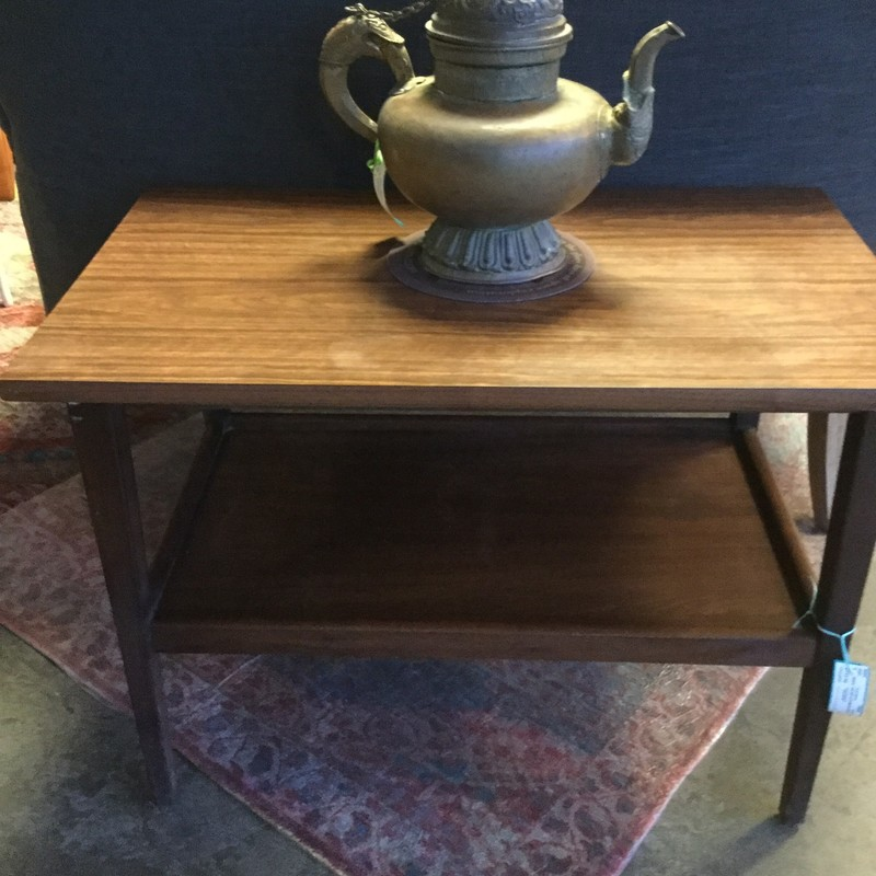 "MCM Foster McDavid End Table, Walnut, Size: 30""X18""X21"""