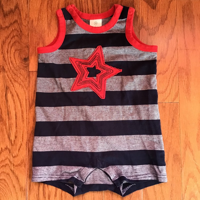 Hanna Andersson Romper, Navy, Size: 6-12m<br /> <br /> <br /> ALL ONLINE SALES ARE FINAL. NO RETURNS OR EXCHANGES.