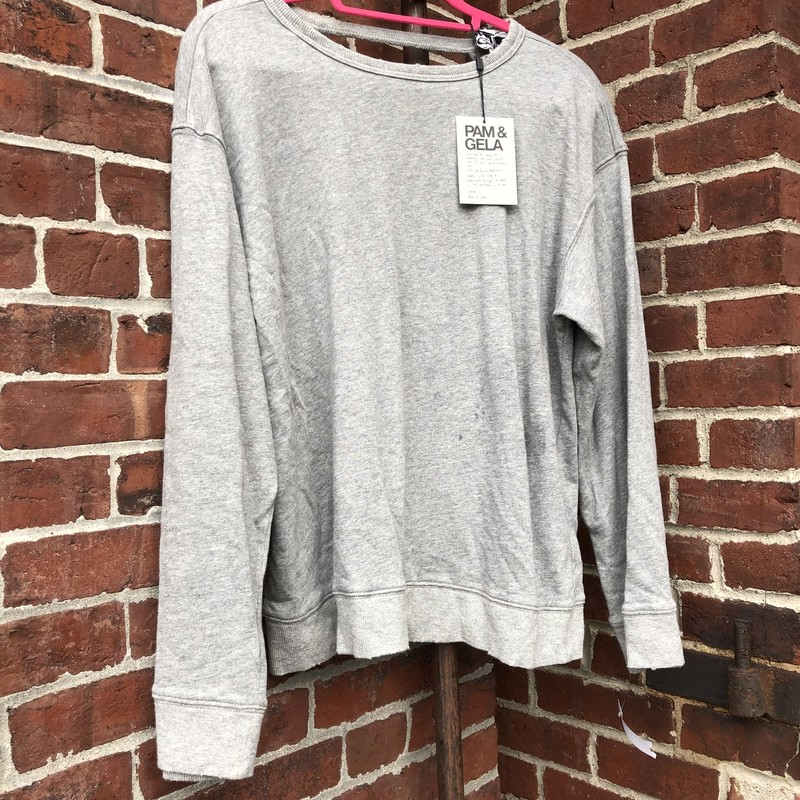 Pam & Gela Open Back NWT, Gray, Size: Medium