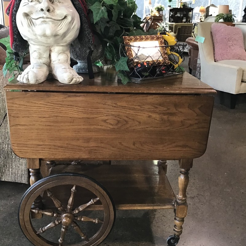 Tea Carts are a lovely piece that can be a fun accessory in your household also your little girls will love it for their tea parties. Crafters provide tea carts with wheels so your able to move it to any location you desire.<br /> <br /> Dimensions: 20x28x28