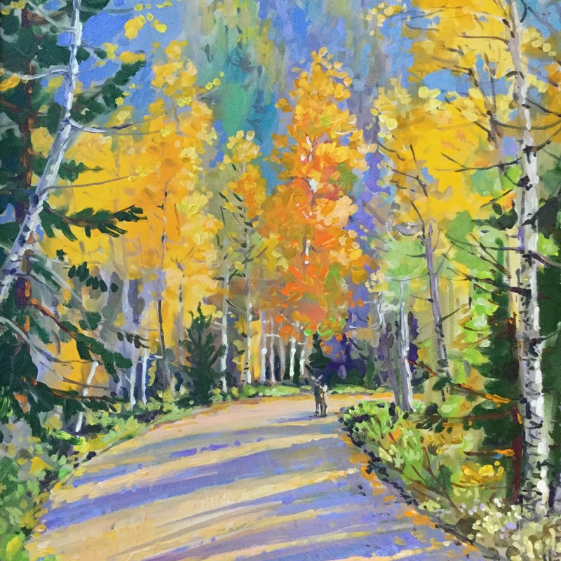 "Original Jim Freeheart, Aspen, Size: 29""x36"""