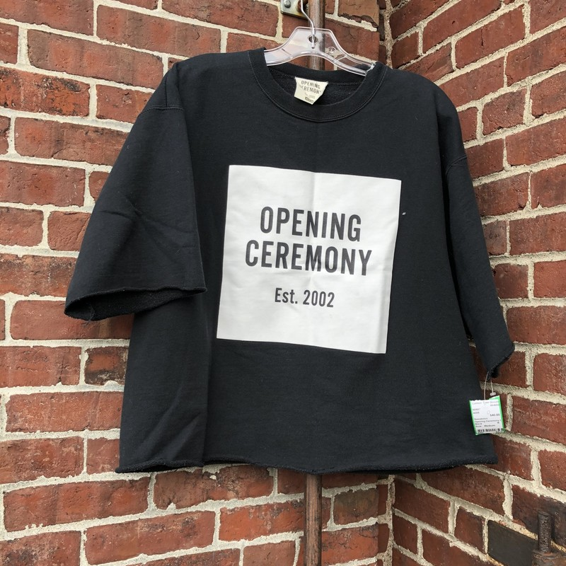 Opening Ceremony Sweatshi, Black, Size: Medium